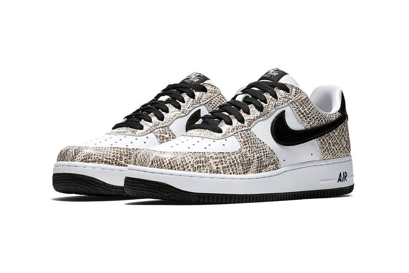 "atmos Nike Air Force 1 ""Cocoa Snake"" japanese sneakers release black white"