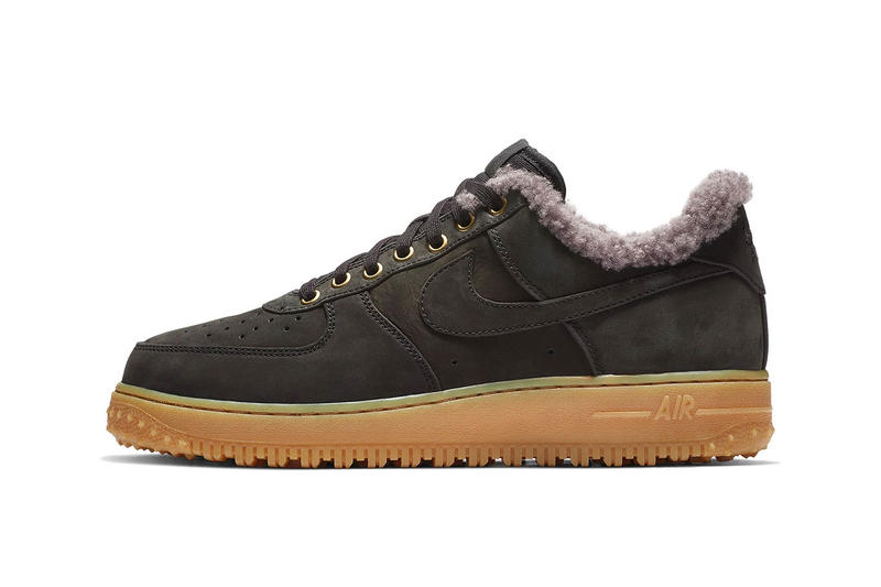 8f8b18a5db9a43 Nike Air Force 1 Low Premium Winter Release Info Date Black Thunder Blue  Gum Light Brown
