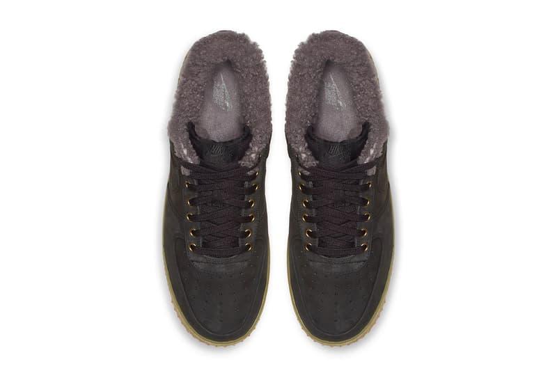 the best attitude 0392d 77e8e Nike Air Force 1 Low Premium Winter Release Info Date Black Thunder Blue  Gum Light Brown