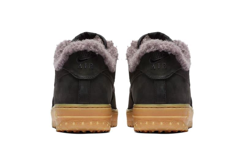 Nike Air Force 1 Low Premium Winter Release Info Date Black Thunder Blue Gum Light Brown colorway sneaker