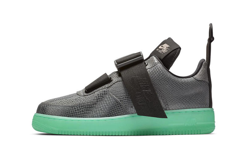 "Nike Air Force 1 Low Utility ""OBJ"" Odell Beckham Jr. swoosh black cool grey green glow in the dark midsole football"