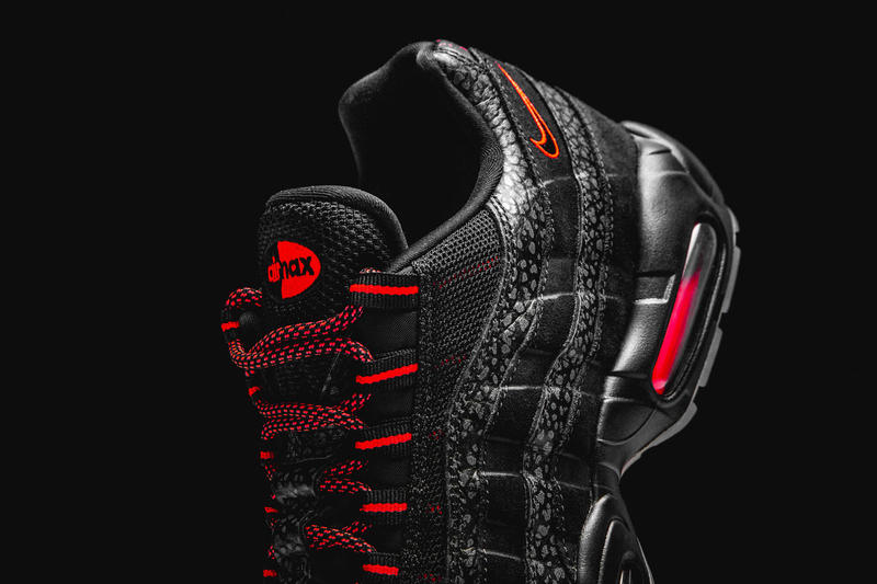 "Nike Air Max 95 ""Infrared/Black"" Release Date black red sneaker 2018 safari print ""Keep Rippin Stop Slippin"" colorway sneaker"