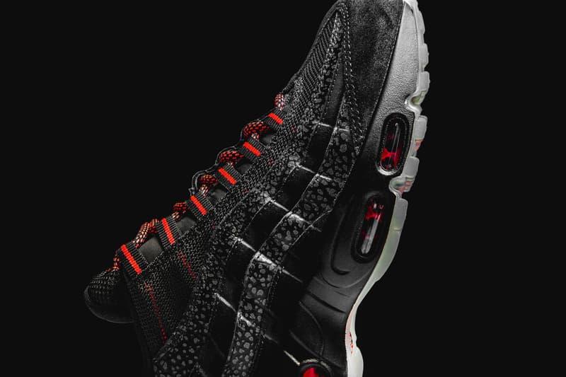 "Nike Air Max 95 ""Infrared/Black"" Release Date black red sneaker 2018 safari print ""Keep Rippin Stop Slippin"" colorway sneaker"