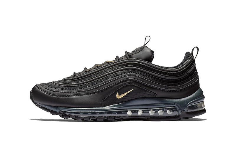 pretty nice 02dc3 c7be2 nike air max 97 black metallic gold anthracite 2018 november footwear nike  sportwear