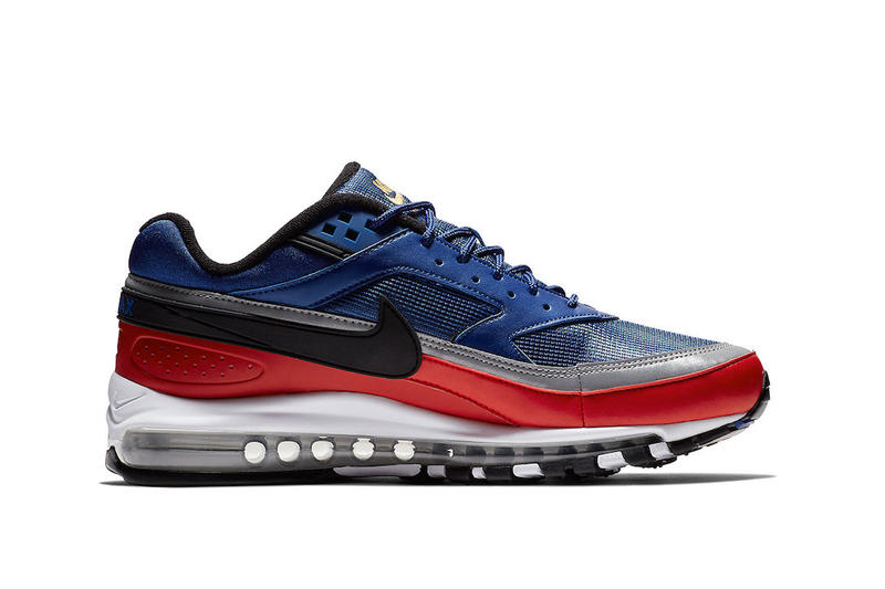 Nike Air Max 97/BW November 2018 Release Date colorways Deep Royal Blue/Black-University Red, another in Metallic Gold/University Red-White-Black, Black/White-Metallic Silver
