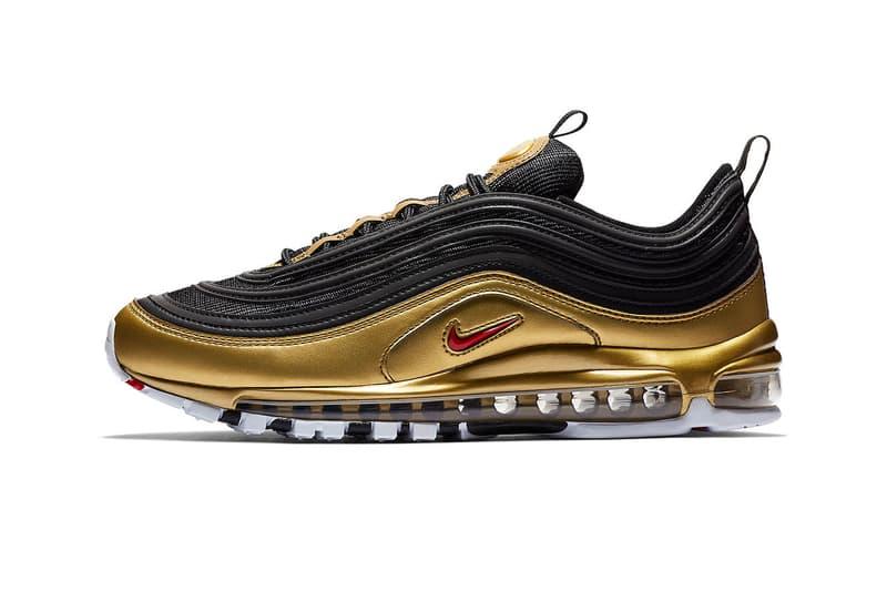 Nike Air Max 97 Metallic Pack Release Date gold silver november 9 2018 AT5458-100 AT5458-002 AT5458-001 colorway