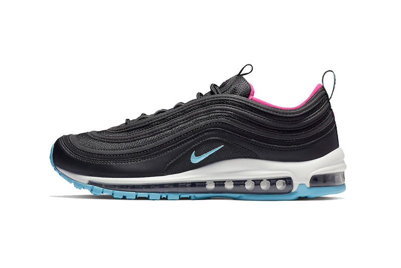 huge selection of cd743 0bfe3 nike air max 97 miami vice black white laser fuchsia blue gale 2018 nike  sportswear footwear