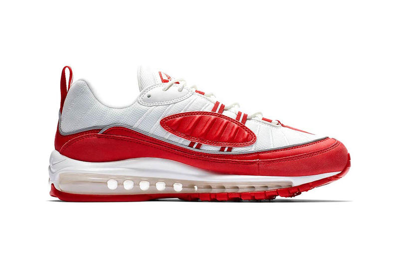 """Nike Air Max 98 """"University Red"""" supreme Release Info date price colorway sneaker purchase november 2018"""