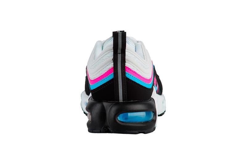 Nike Air Max Plus 97 Miami Vice Release Info Date White Blue Gale Black Laser Fuchsia Info Date Heat NBA