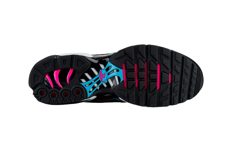 1b23b1b7e1 Nike Air Max Plus 97 Miami Vice Release Info Date White Blue Gale Black  Laser Fuchsia