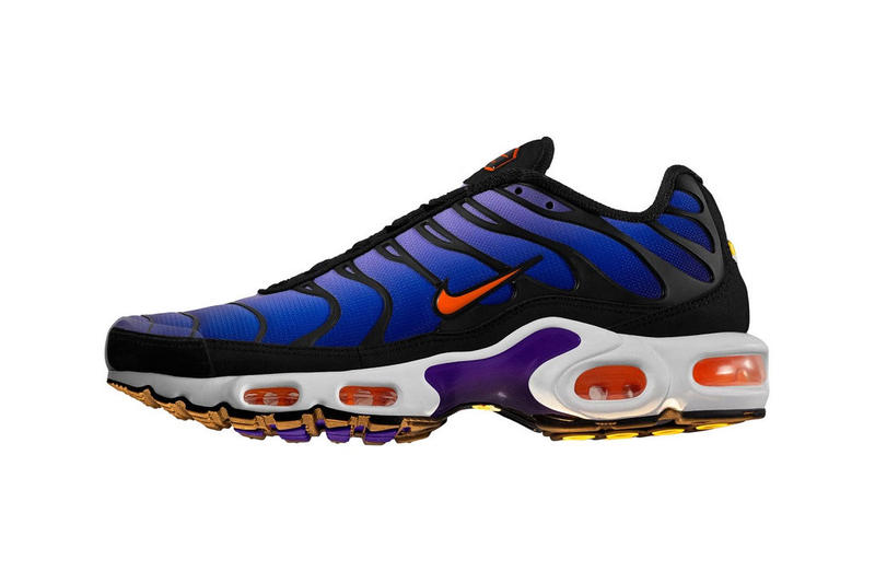 new product 77a04 e7ce0 nike air max plus sunset purple hyperblue tn sneakers orange 2018 november  december 15 22 24