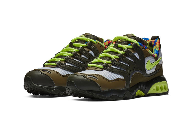 "Nike Air Terra Humara '18 ""Olive/Volt Glow"" Floral lining sneaker release date women's price colorway"