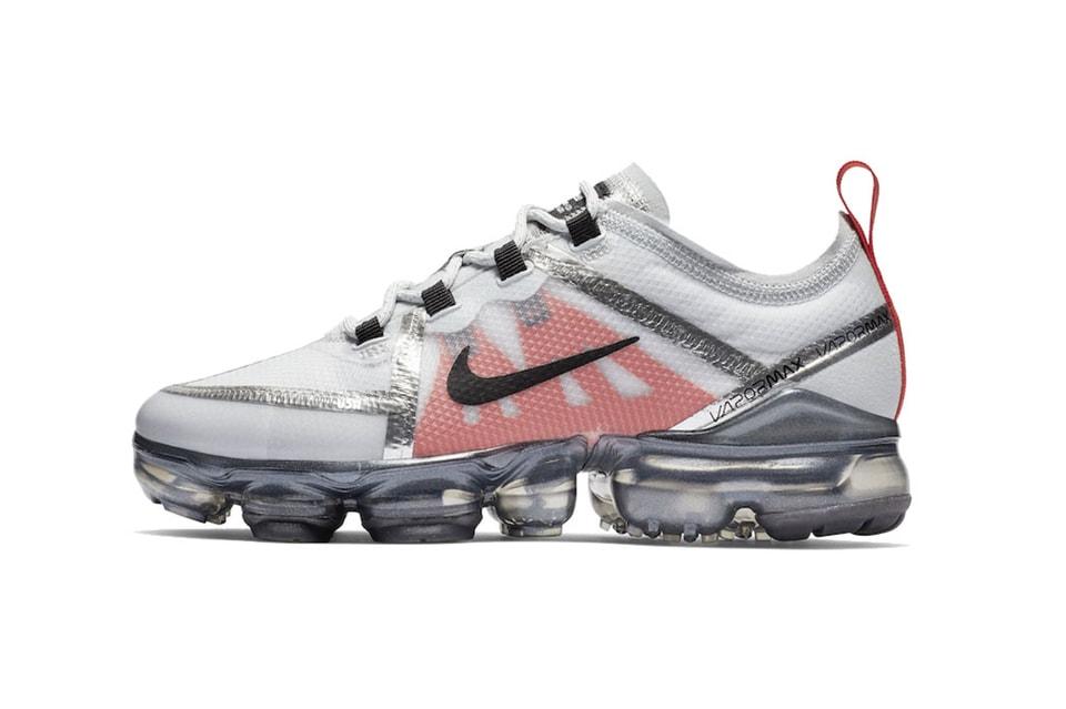 ec2859d4f9a Nike Air VaporMax 2019 Metallic Silver Red