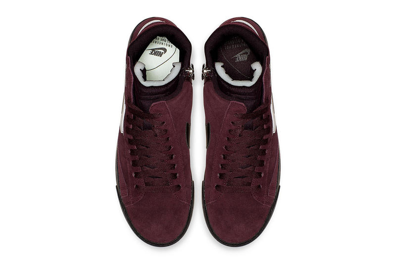Nike Blazer Rebel Burgundy Colorway Sneaker Store List Details Shoes Trainers Kicks Sneakers Footwear Cop Purchase Buy Raffle Random Crush Summit White Black Ash