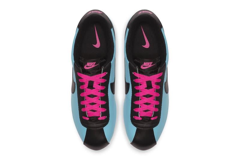 "Nike Cortez Basic Leather Colorways 2018 ""Blue Gale Laser Fuchsia"" ""White/Black"" Amarillo/Field Purple sneaker release date info price"