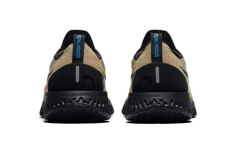 Nike Epic React Flyknit Multicolor Black Volt Blue Glow Release Info Date
