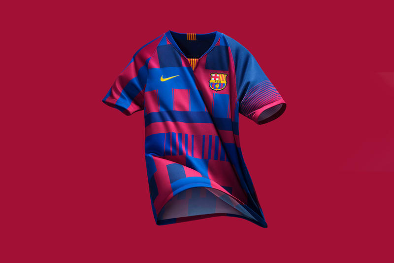 FC Barcelona Nike Jersey Kit Shirt Football Soccer Design 20th Anniversary Birthday Celebration