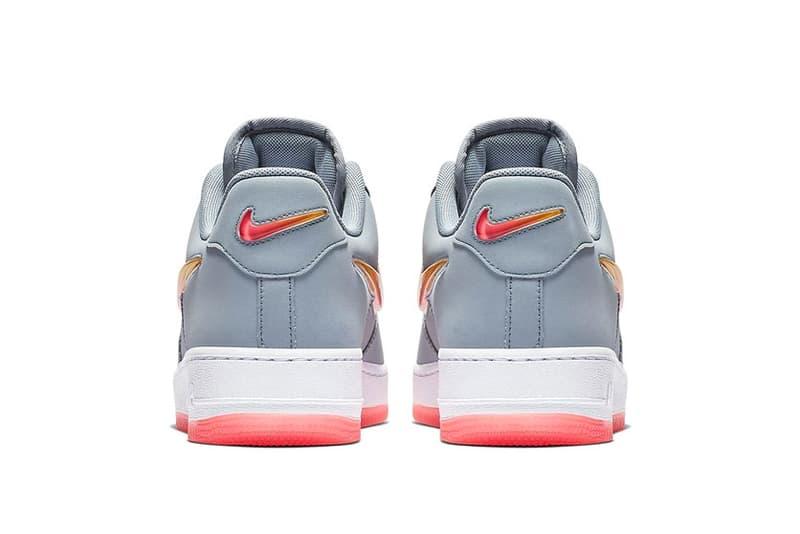 "Nike Air Force 1 ""Obsidian Mist"" Jewel Swoosh oversized big release date info price sneaker colorway orange gradient"