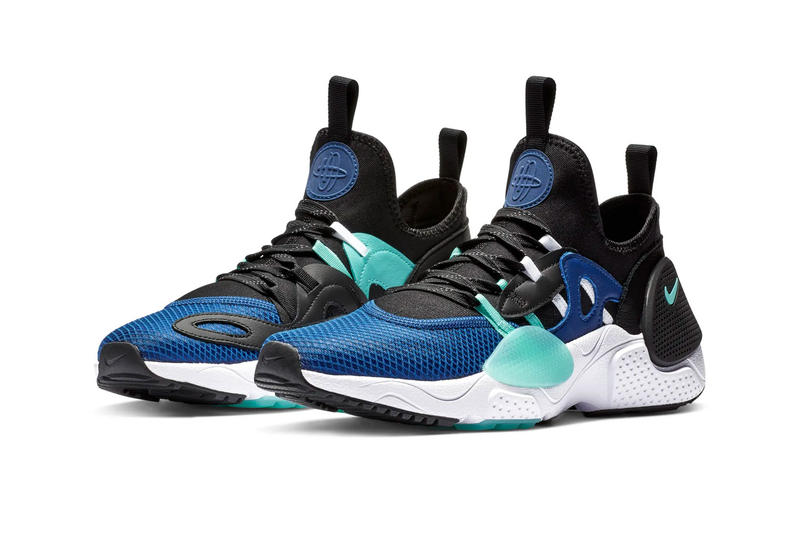 cheap for discount aa6bd 77818 Nike Huarache E.D.G.E. TXT White Clear Emerald Total Orange Indigo Force  Black First Look Release Info