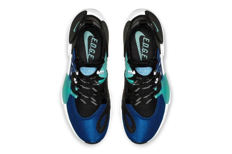 cheap for discount bf2f4 94843 Nike Huarache E.D.G.E. TXT White Clear Emerald Total Orange Indigo Force  Black First Look Release Info