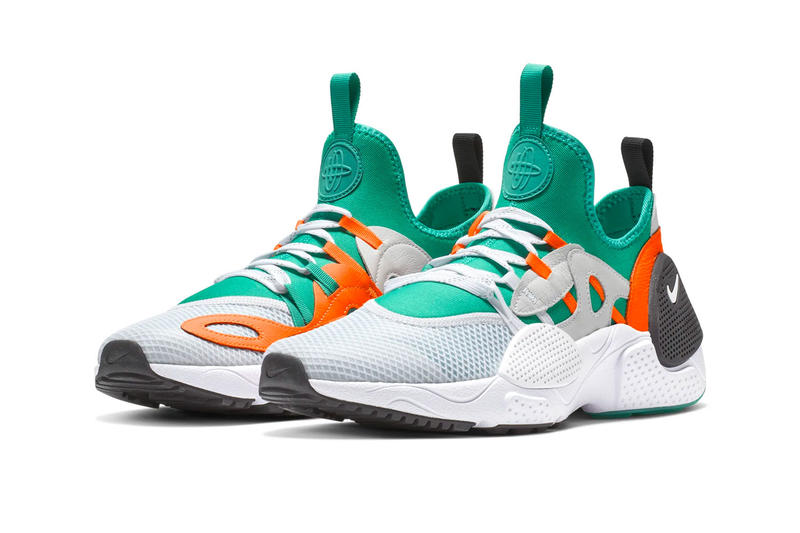 aaf9d74b805 Nike Huarache E.D.G.E. TXT White Clear Emerald Total Orange Indigo Force  Black First Look Release Info