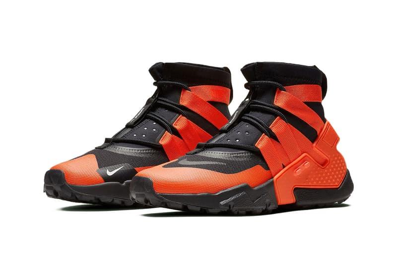 Nike air Huarache Gripp black white Team Orange Release Date sneaker price november 8 2018 AO1730-001