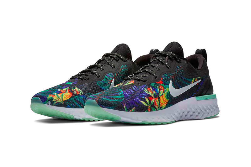 Nike Odyssey React Floral Black Green Glow White Release Info Date
