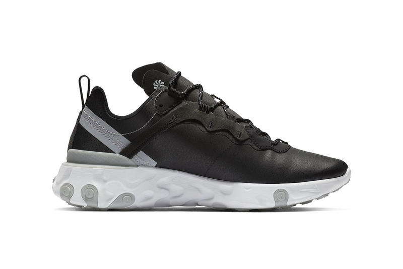 Nike react element 55 black white colorway sneaker grey release date info price