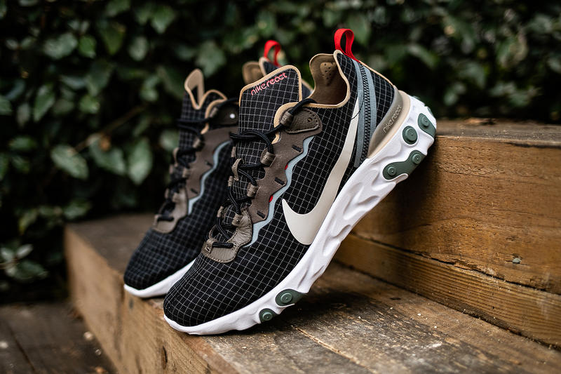 buy popular 36085 33637 A Closer Look at size  s Exclusive Nike React Element 55