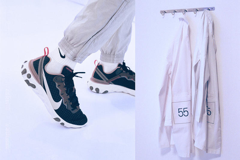 new styles d4e0f ace1e Exclusive x Nike React Element 55 Sneakers Shoes Trainers Kicks Footwear