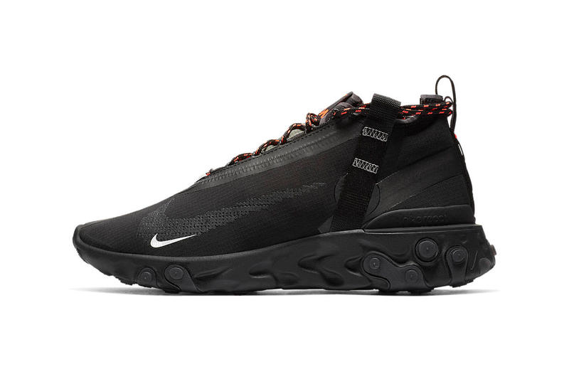 Sureste Egoísmo Tortuga  Nike React Runner Mid WR ISPA Black Closer Look | HYPEBEAST