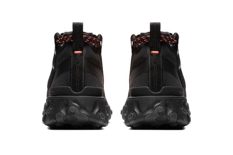 Nike React Runner Mid WR ISPA Black Colorway First Look Closer Release Date Triple Orange Buy Cop Purchase