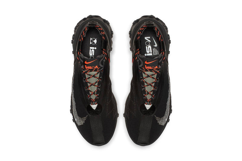 Nike React Runner Mid WR ISPA Black Colorway First Look Closer Release Date Triple Orange Buy Cop Purchase