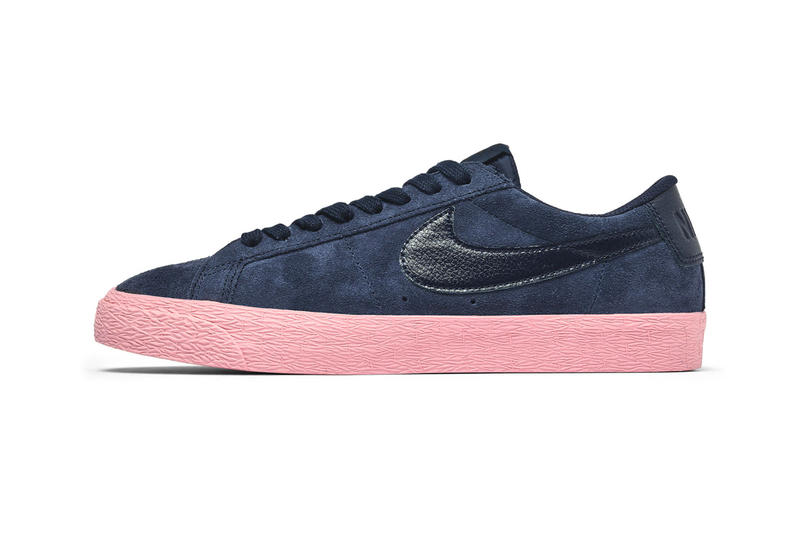 "Nike SB Blazer Low ""Obsidian/Bubblegum"" release date price info colorway sneaker available now Navy/Pink"