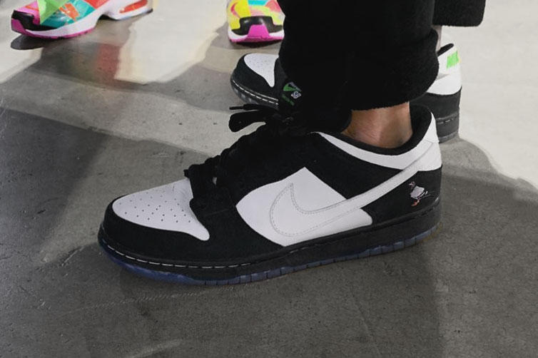 Nike SB Dunk Low Pigeon 3 jeffstaple black white sneaker first look preview  release date info 9a4af1ea23