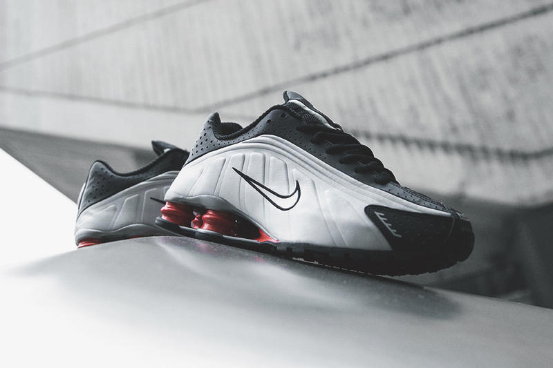 Nike Shox R4 Black Silver Shoe Release Details Shoes Trainers Kicks Sneakers Footwear Cop Purchase Buy Now Soon Available