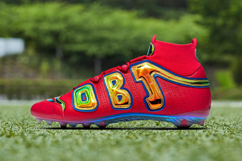 Nike Odell Beckham Jr. Bright Lights Cleat OBJ Football NFL sportsMore  Uptempo sports cleats Carbon e48b2e48f59d