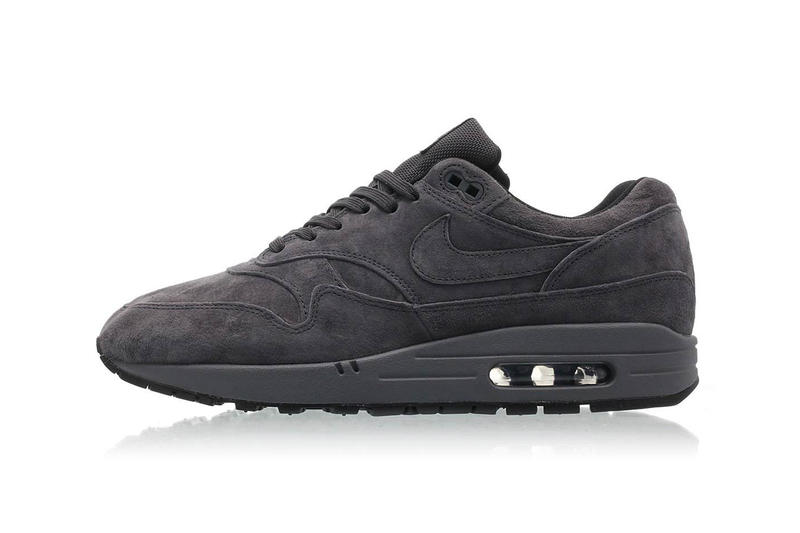 "Nike Air Max 1 premium ""Triple Anthracite"" Release Date price sneaker grey colorway purchase size"