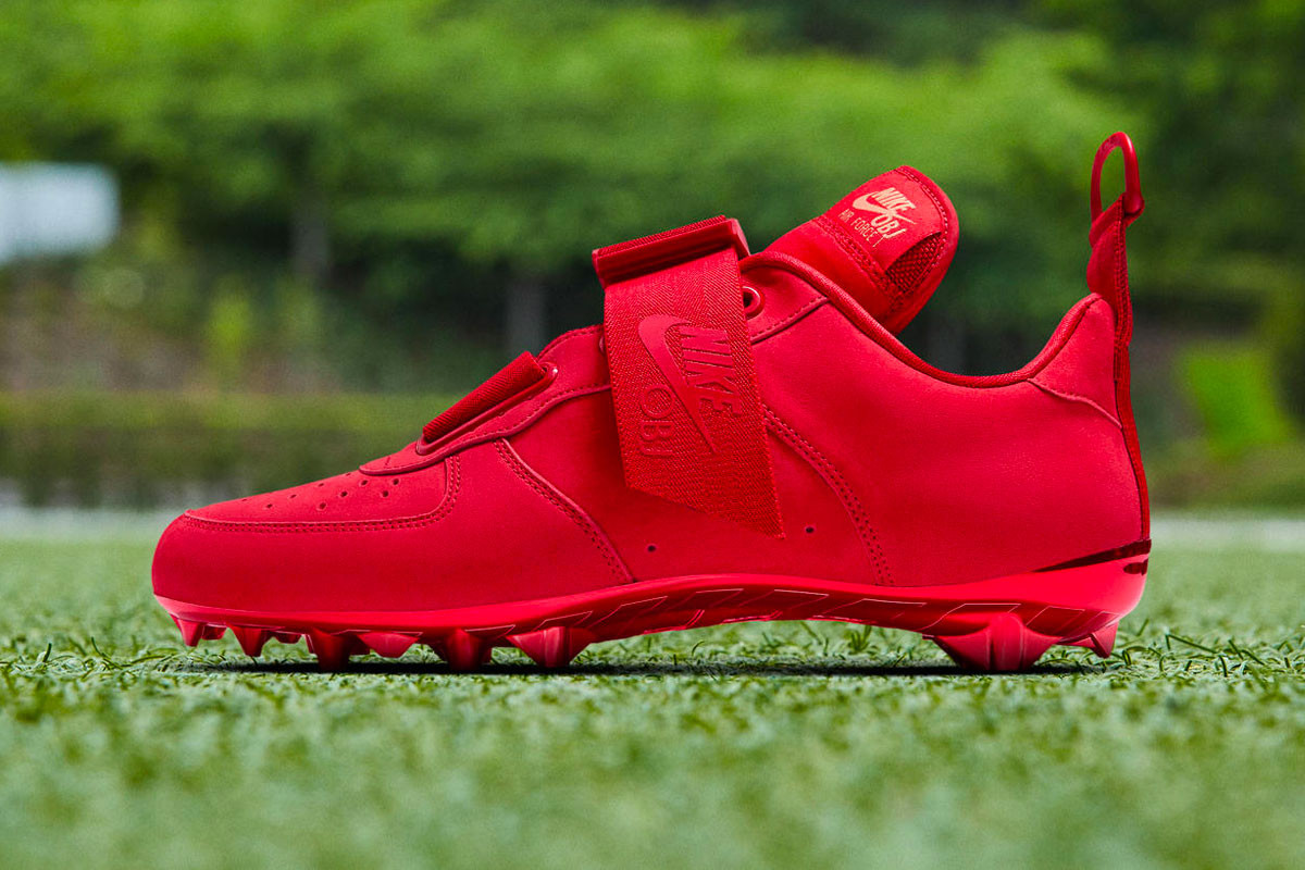 OBJ Nike Air Force 1 Utility Cleat Red
