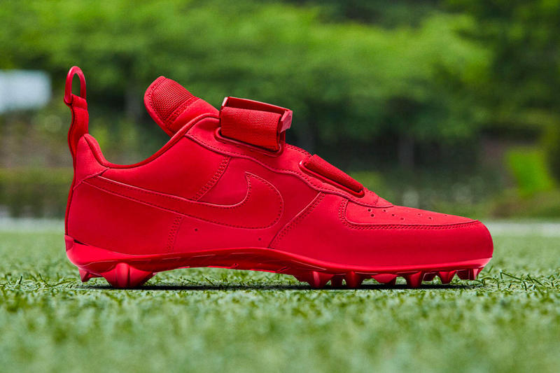 OBJ Nike Air Force 1 Utility Cleat Red New York Giants NFL Sports