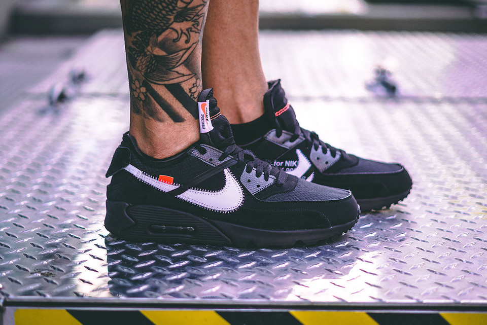 the best attitude f96a0 7c84f An On-Foot Look at the Off-White™ x Nike Air Max 90