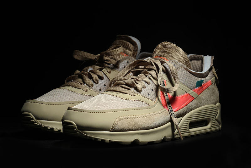 more photos da010 c5ad4 Off-White x Nike Air Max 90 Desert Ore Close Look | HYPEBEAST