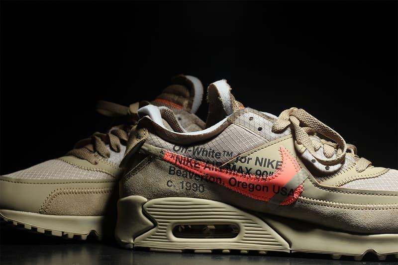 off white nike air max 90 desert ore hyper jade bright mango closer look 2018 footwear virgil abloh