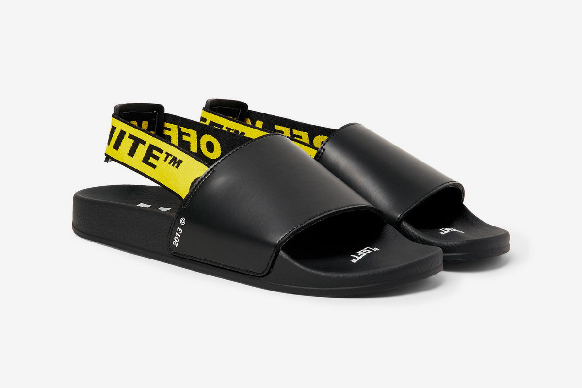Off-White™ Printed Leather Slides