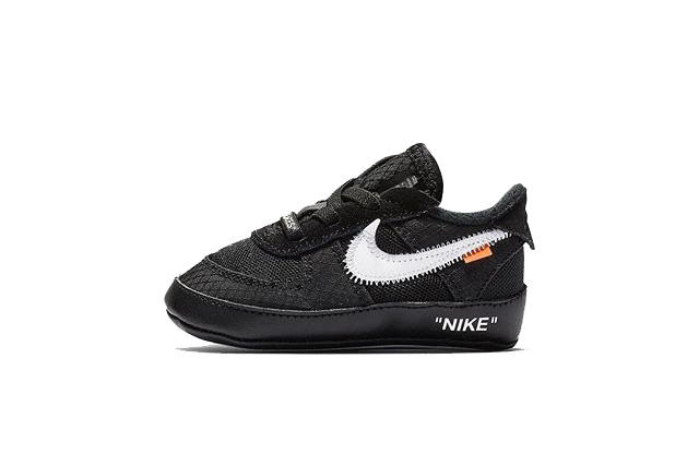 7e1ba572918b9 Virgil Abloh x Nike Air Force 1 Baby Size First Look Black Cone White CB TD