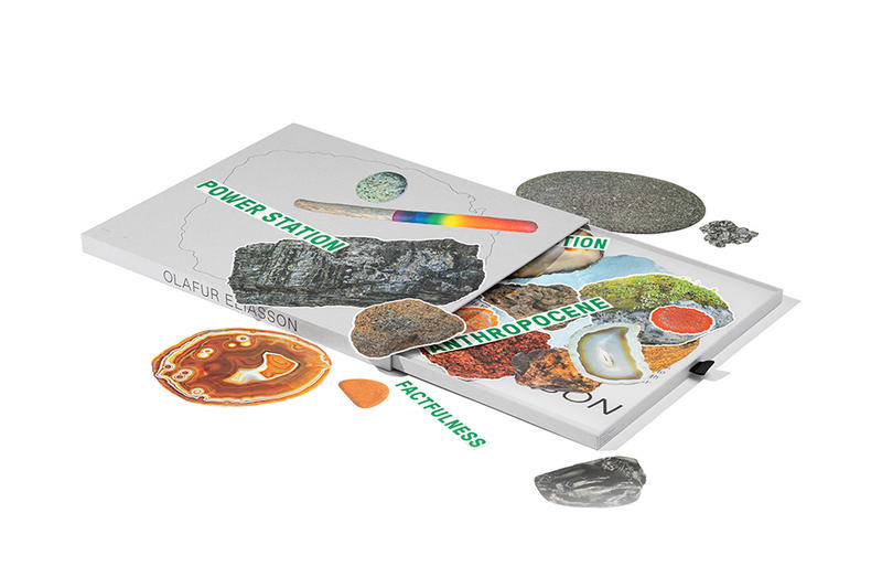 Olafur Eliasson x RIMOWA Luggage Stickers Collab Collaboration Cop Purchase Buy Little Sun Foundation A Collection of Stone, Lava, Meteorite, Ice, Driftwood, and Lichen Stickers