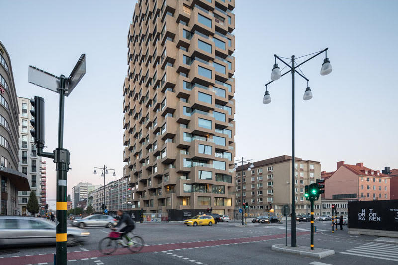 OMA Architects Innovationen Tower Opening Info architecture brutalism brutalist Stockholm tower residential homes apartments design
