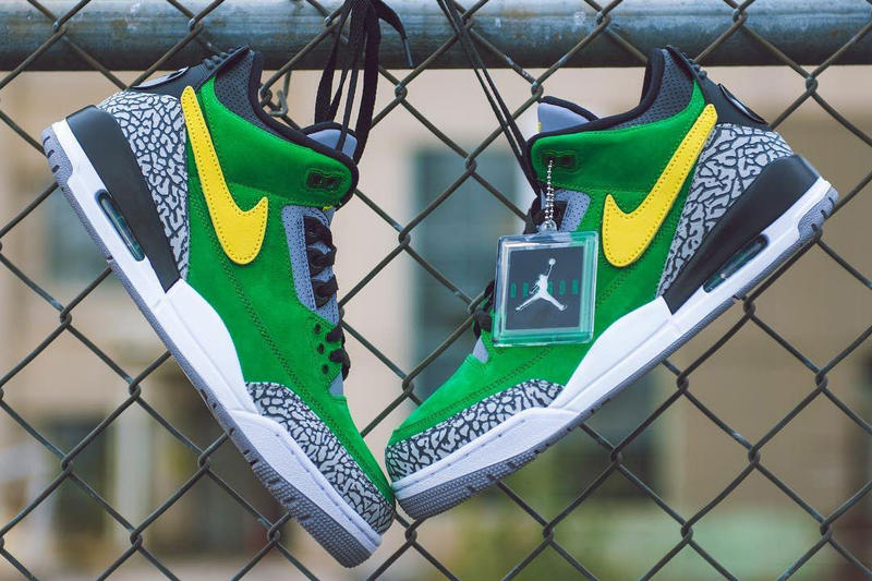 oregon ducks air jordan 3 th pe 2018 footwear university of oregon