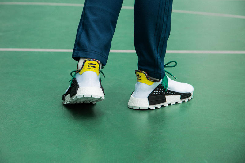 Pharrell X Adidas U Nmd Solarhu Pack On Foot Hypebeast