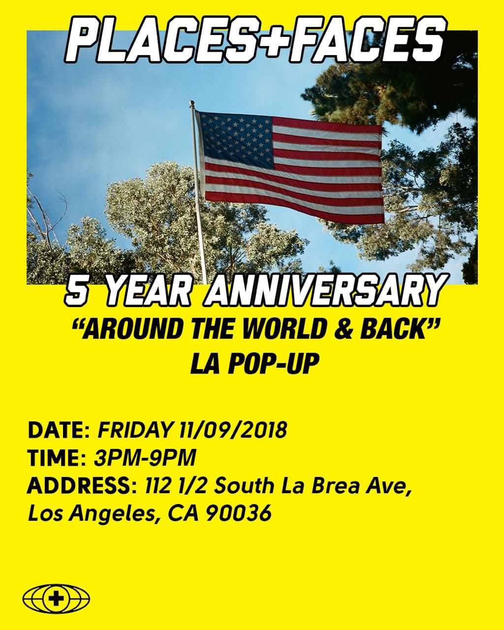 Places+Faces 5th Anniversary LA Pop-Up Location